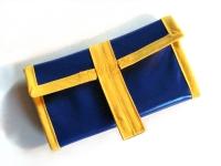 """Blague à tabac """"Bleu et jaune"""""""