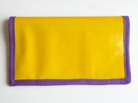 """Porte-chéquier """"Jaune et violet"""""""