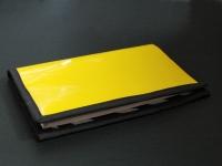 """Porte-chéquier """"Zèbre jaune"""""""